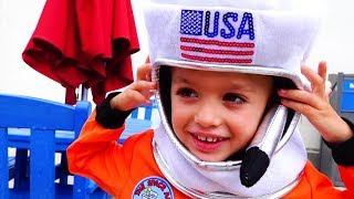 Vlad und Nikita möchten Astronauten sein