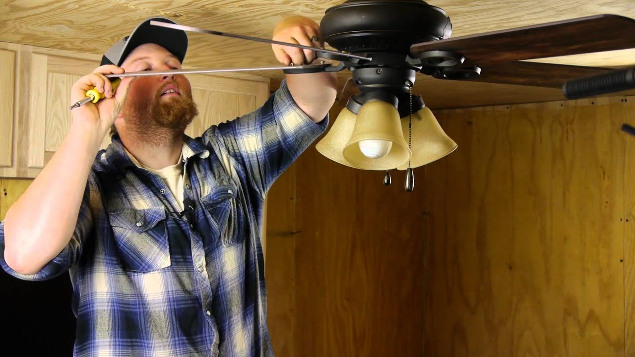 How to Straighten Drooping Ceiling Fan Blades  Ceiling