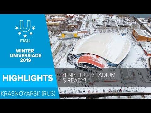 Enjoying the views of the Yenisei Ice Stadium 😍❄️ I 29th Winter Universiade 2019, Krasnoyarsk.
