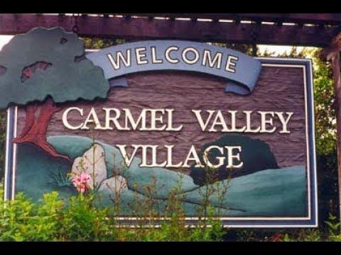 Tour of Town of Carmel Valley Village California slow drive thru
