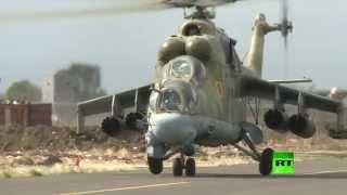 مشاهد لقدرات الدبابة الطائرة على الأراضي السورية (فيديو)