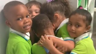 Preschooler Trapped by Hurricane Hugs Pals in Sweet Reunion
