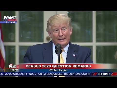 CITIZEN OR NO? President Trump Intiates EXECUTIVE ORDER Over Census 2020 Question