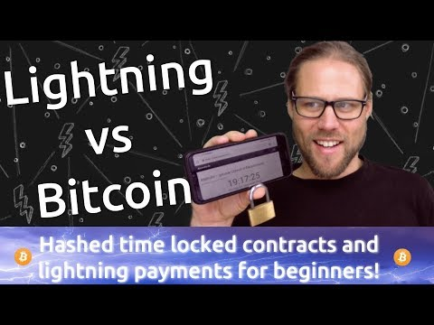 BEGINNER: Bitcoin Vs Lightning Payments  Hashed Time Locked Contracts Explained