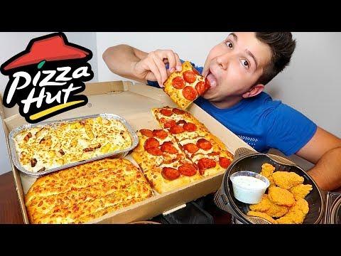 Pizza Hut Box Challenge • 5,000 Calories • MUKBANG
