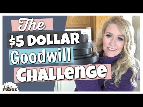 5 Dollar Goodwill CHALLENGE    Home Decor on a Budget