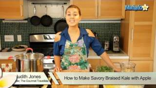 How To Make Savory Braised Kale With Apple