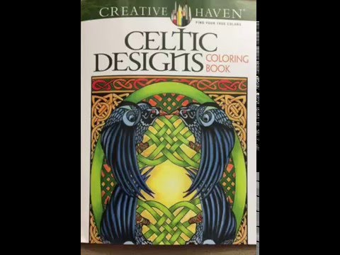 Creative Haven Celtic Designs Coloring Book Adult Coloring Flip