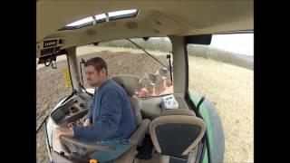 John Deere 6210r ploughing- incab view