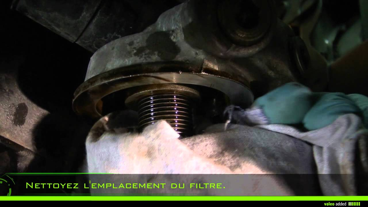 Valeo Oil Filter Montage D Un Filtre 224 Huile 224 Visser