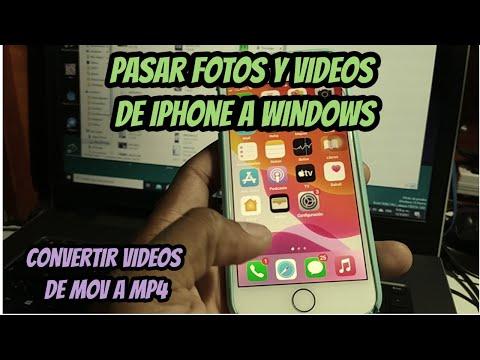 Pasar fotos y videos de Iphone a Windows PC y convertir los archivos .MOV a .MP4