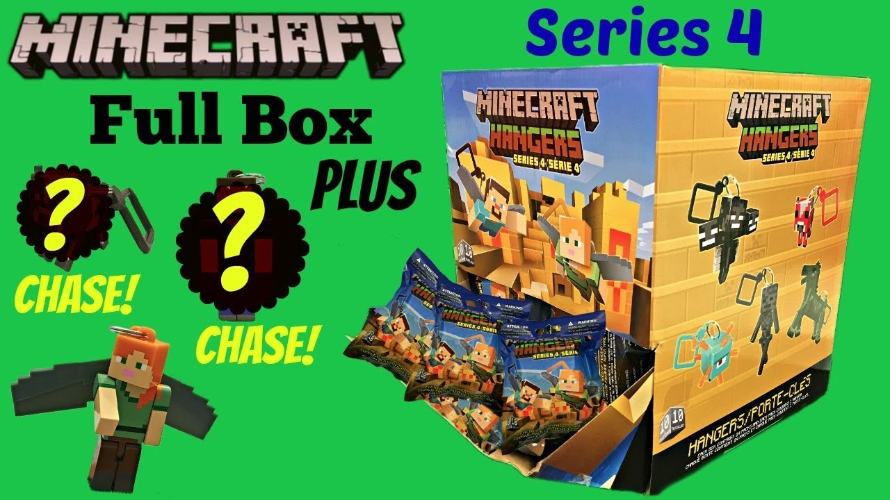 Minecraft Hangers Series 4 Full Box Minifigures Chase