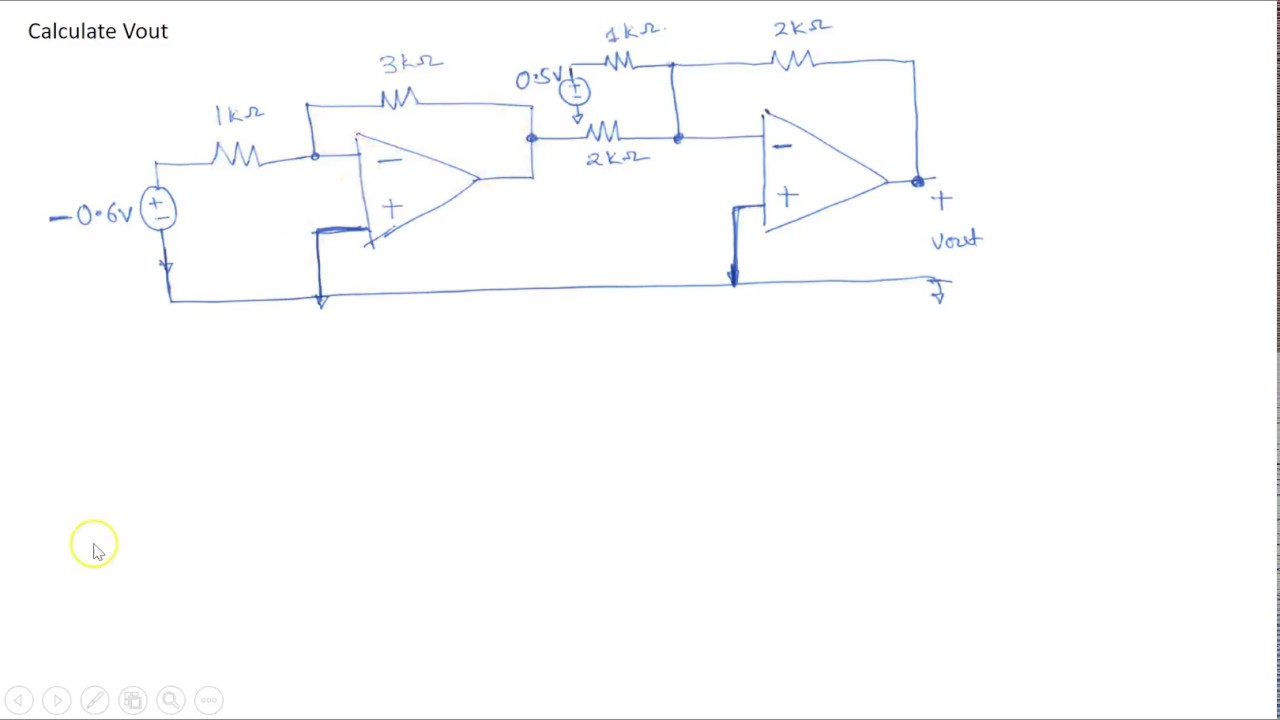 Example 1: Cascaded Op Amp circuit on