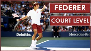 Roger Federer ● Court Level View Best Points