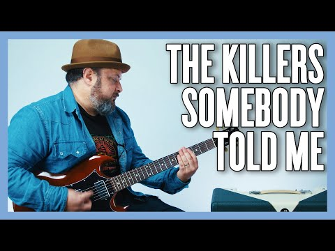 The Killers Somebody Told Me Guitar Lesson + Tutorial