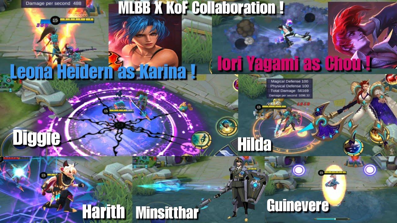 Gameplay 7 New Skin Mlbb X Kof Chou Karina Epic Skin