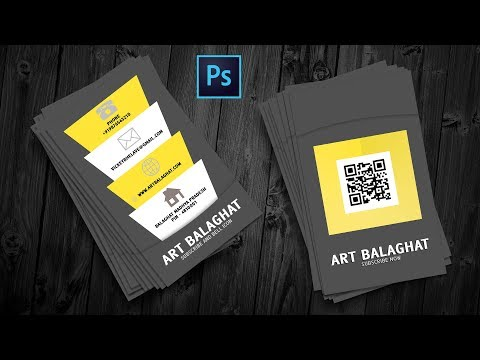 How To Create Creative Corporate Business Card Design Photoshop Tutorial In Hindi thumbnail