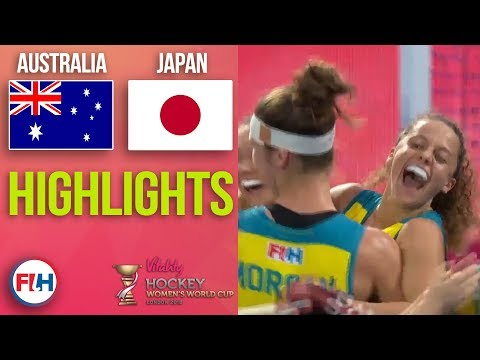 Australia v Japan | 2018 Women's World Cup | HIGHLIGHTS
