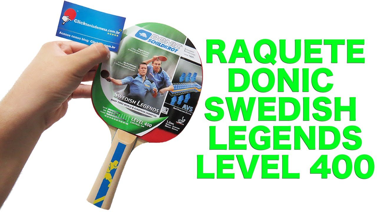 c279af5f47 RAQUETE DE PING PONG E TÊNIS DE MESA SWEDISH LEGENDS 400 DONIC ...
