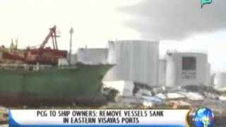 [NewsLife] PCG to ship owners: Remove vessels sank in Eastern Visayas ports || Dec. 4,