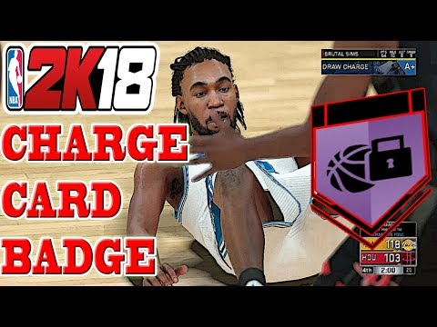 NBA 2K18 BADGE TUTORIAL - HOW TO GET CHARGE CARD BADGE EASY