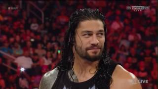 "WWE Roman Reigns responds to ""You can't Wrestle..."" chants [Raw 06/20/16]"
