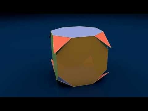 Make 3D Solid Shapes - Truncated Cube / Усеченный куб
