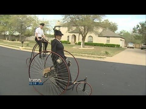 Wheelmen ride through bicycle history