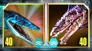 MOSASAURUS Vs DUNKLEOSAURUS - Jurassic World The Game