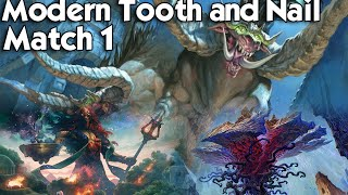MTG Modern: Tooth and Nail vs Mono-Blue Tron - Playing on a Budget