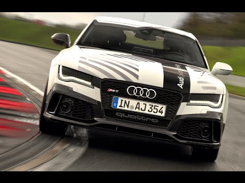 Audi Rs7 No Driver 149mph Audi Self Driving Car High Speed Full Lap
