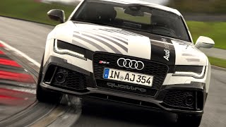 AUDI RS7 NO DRIVER 149mph! Audi Self Driving Car High Speed Full Lap Race Track CARJAM TV 4K 2015