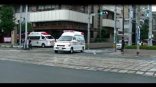 熊本市西消防署前を緊急走行中の周産期母子医療センターのドクターカー...