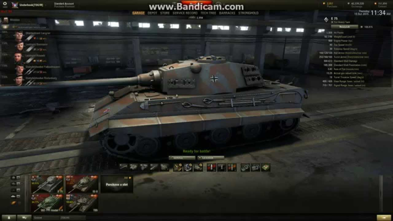 e75 tank review world of tanks - youtube
