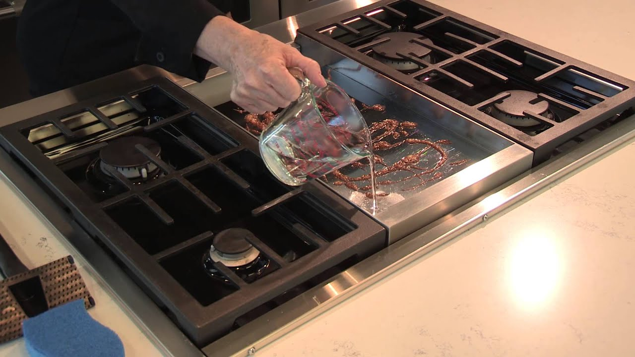 Clean Griddle Stove Top