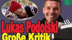 Lukas Podolski - Aktion für seine Tochter. Er hat viel Kritik von der Öffentlichkeit erhalten