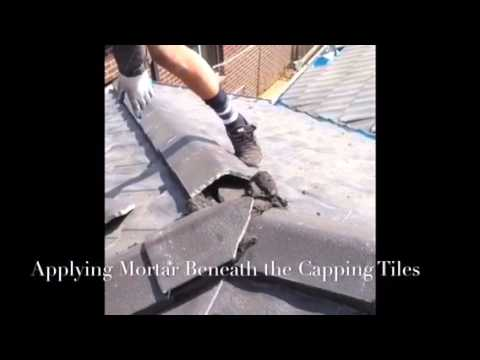 Installing Ridge Capping Tiles