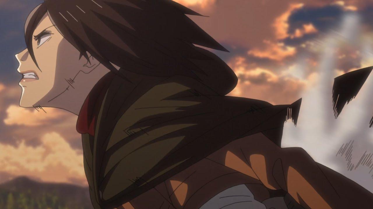 Mikasa Ackerman Badass Attack On Titan Moments Season 1 And 2 Hd English Dub Youtube