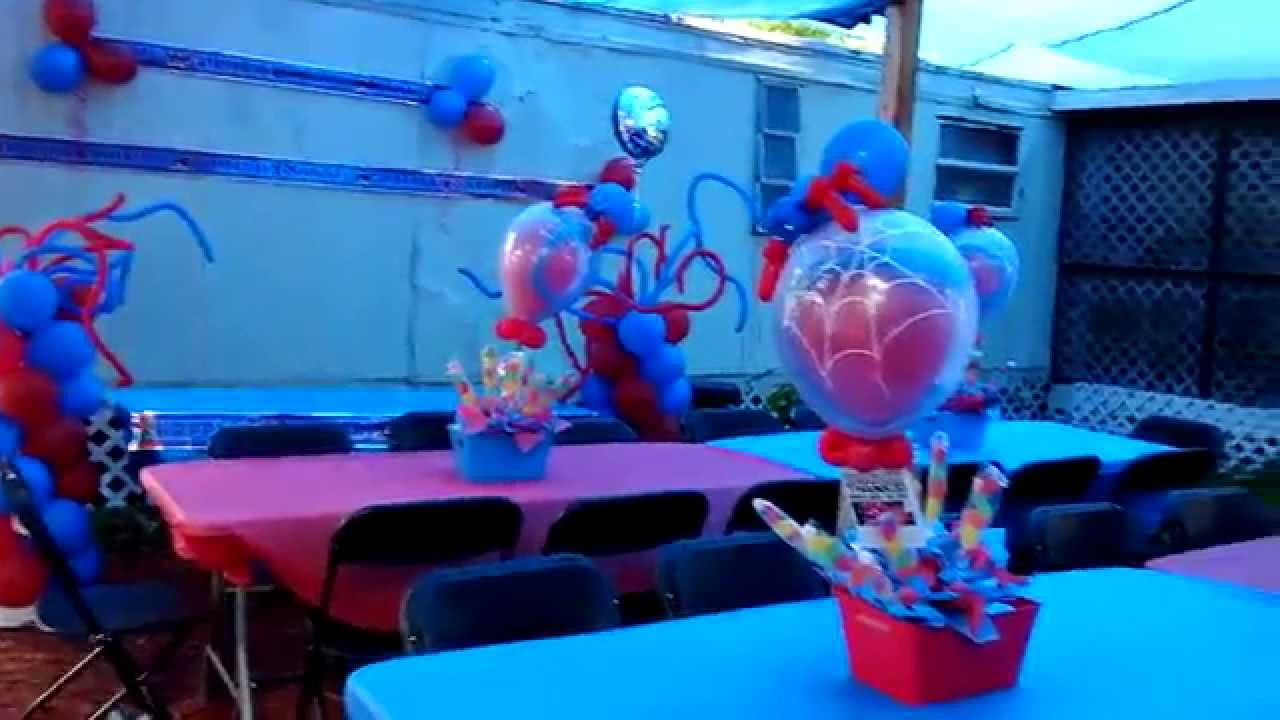Decoraci n con globos el hombre ara a youtube - Decoracion de aranas ...