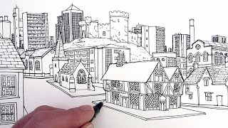 How to Draw Buildings: A Village Through Time YouTube
