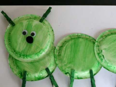 Preschool Paperplate Art - Caterpillar - YouTube