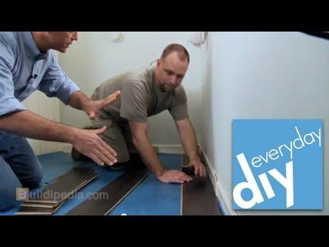 How to install laminate flooring buildipedia diy youtube how to install laminate flooring buildipedia diy solutioingenieria Image collections