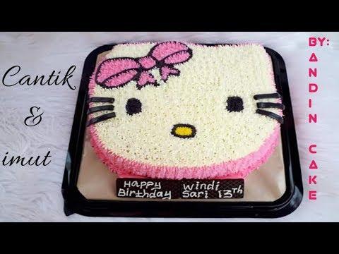 Cara Membuat Kue Ulang Tahun Hello Kitty Sederhana Dan