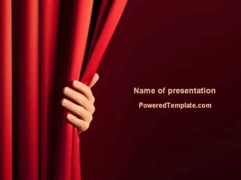 Red Curtain Pow... Powerpoint 2013 Free Templates