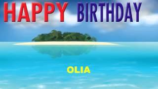 Olia  Card Tarjeta - Happy Birthday