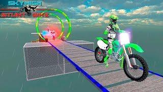 Sky High Bike 3D Stunts 2018 - Gameplay Android game - bike racing game 2018