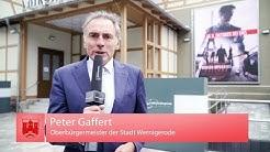 Eröffnung der Volkslichtspiele in Wernigerode - Der Oberbürgermeister informiert