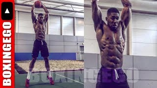 DAMN!! ANTHONY JOSHUA LOOKS LEANER, LESS MASS READY FOR JOSEPH PARKER'S BEST (EGO WEIGHT WATCHERS)