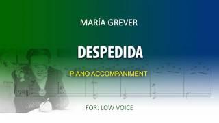 Despedida / Karaoke piano / María Grever / Low voice