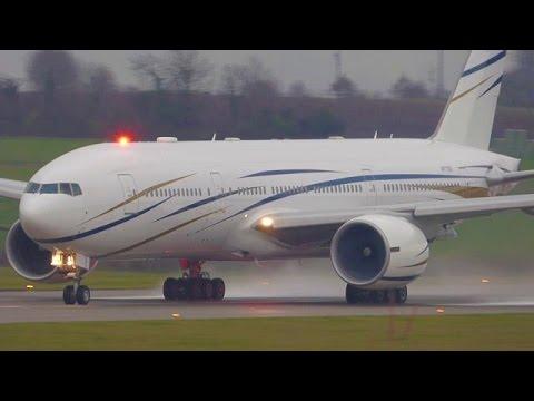 [FullHD] Mid East Jet Boeing 777-200(ER) landing & takeoff at Geneva/GVA/LSGG